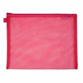 Папка на молнии Axent А4+, розовая
