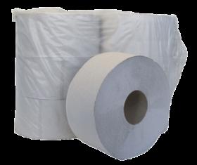 Бумага туалетная макулатурная на гильзе Buroclean Джамбо, 1 слой, серая