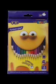 Карандаши цветные ZIBI SMART Line, 18 цветов