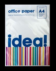 Офисная бумага IDEAL А4, 80г/м2, 100 листов