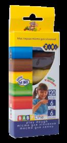 Тесто для лепки ZIBI BABY Line, 6 цветов по 20 г