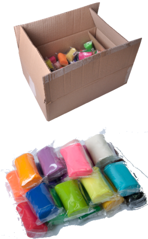 Тесто для лепки ZIBI BABY Line, 30 цветов, 50 стиков по 50 г