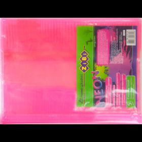 Наборобложек для тетрадей Zibi KIDS Line NEON с клапаном, 5 шт, розовый