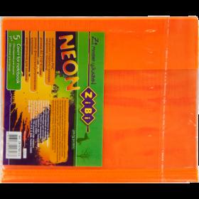 Наборобложек для тетрадей Zibi KIDS Line NEON с клапаном, 5 шт, оранжевый