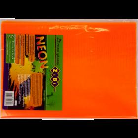 Набор обложек для учебников 1-11 класс Zibi KIDS Line NEON с клапаном, 5 шт, оранжевый