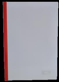 Скоросшиватель с планкой Buromax А4, 15 мм, РР, красный