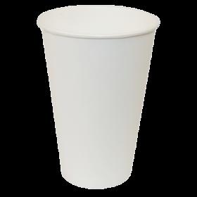 Стакан одноразовый бумажный Buroclean термостойкий 350 мл, белый, 50 шт