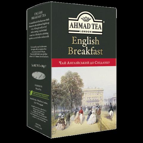"""Чай черный Английский к завтраку, 100г,  """"Ahmad"""", лист"""