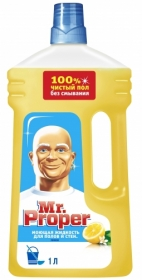 Средство для мытья полов и стен Mr. Proper Лимон, 1 л