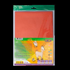 Бумага фетровая ZiBi А4, 10 листов, 10 цветов