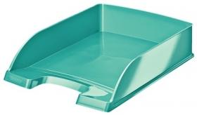 Лоток для бумаг горизонтальный Leitz WOW, бирюзовый металлик