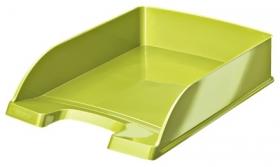 Лоток для бумаг горизонтальный Leitz WOW, зеленый металлик
