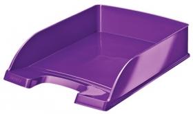 Лоток для бумаг горизонтальный Leitz WOW, пурпурный металлик