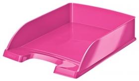 Лоток для бумаг горизонтальный Leitz WOW, розовый металлик