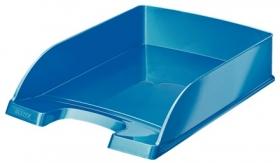 Лоток для бумаг горизонтальный Leitz WOW, синий металлик
