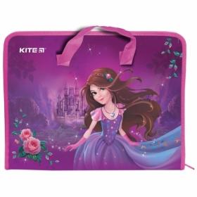 Пластиковый портфель KITE Princess A4, 1 отделение