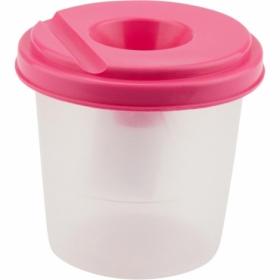 Стакан-непроливайка, рожевий