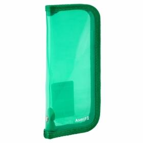 Пенал жесткий Axent, 1 отделение, зеленый