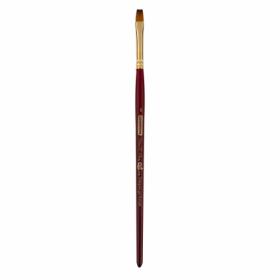 Кисть ZiBi ART Line Cherry 6970 плоская из синтетики №6, короткая ручка
