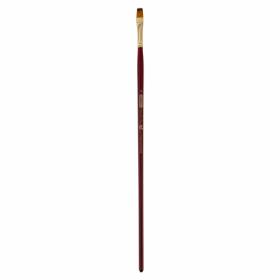Кисть ZiBi ART Line Cherry 6971 плоская из синтетики №8, длинная ручка