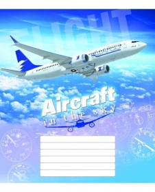 Тетрадь Мечты сбываются Гражданская авиация А5, 18 листов, клетка
