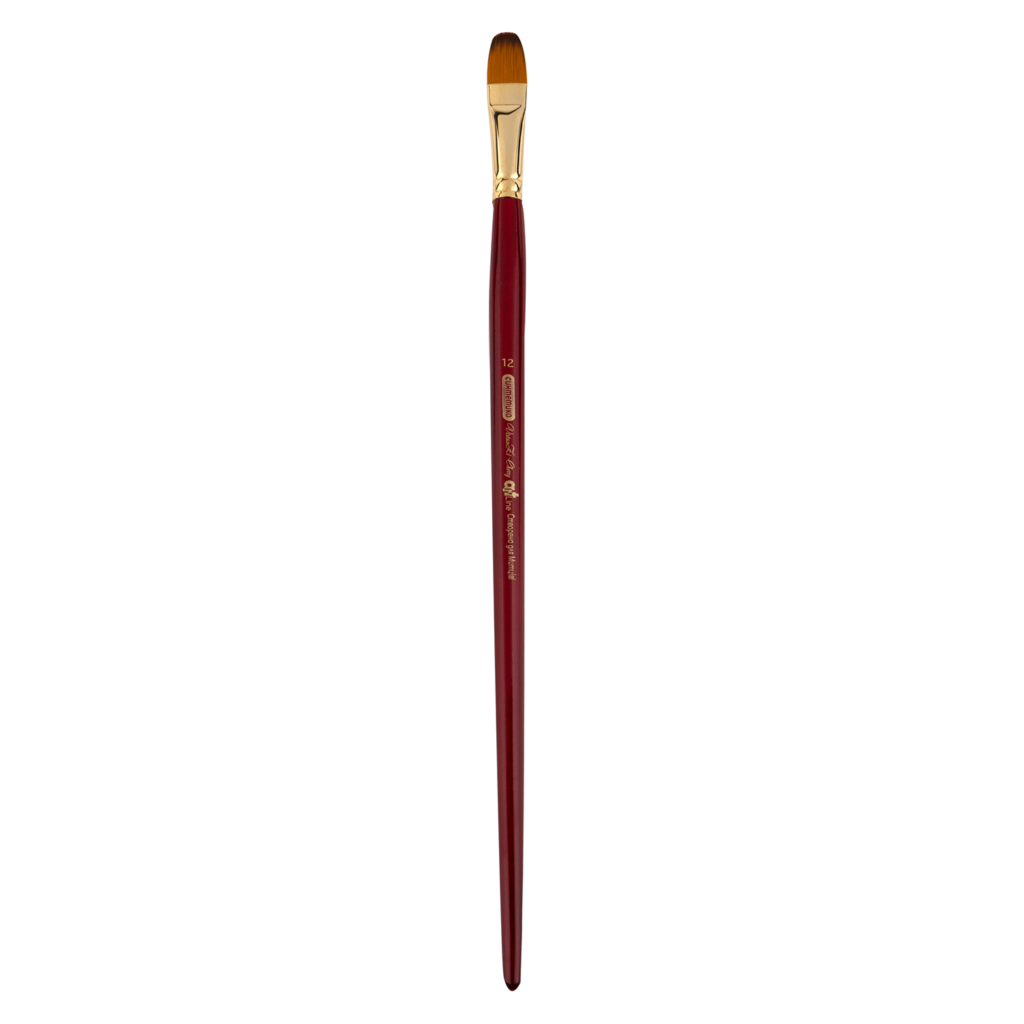 Кисть ZiBi ART Line Ocean 6974 овальная из синтетики №1, длинная ручка