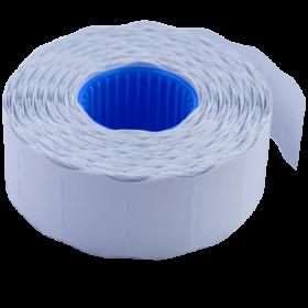 Ценник фигурныйBuromax 26х12 мм,1000 шт,белый