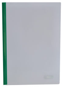 Скоросшивательспланкой Buromax А4, 15мм,РР, зеленый