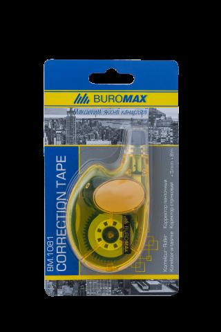 Корректор ленточный BUROMAX5 ммх8 м, желтый