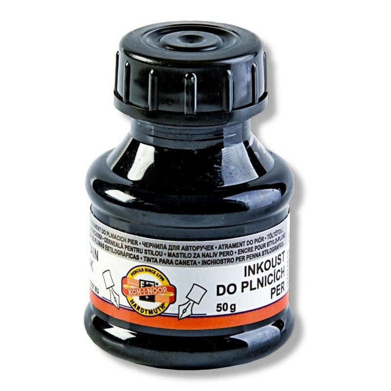 Чернила Koh-i-Noor для автоматических ручек 50 мл, черные