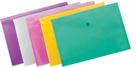 Папка-конверт на кнопке Buromax А4,170 мкм, ассорти