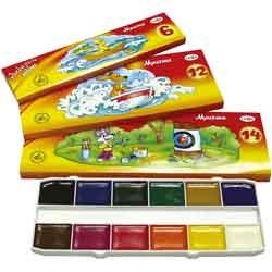 Краски акварельные ГАММА Мультики, без кисти, 14 цветов