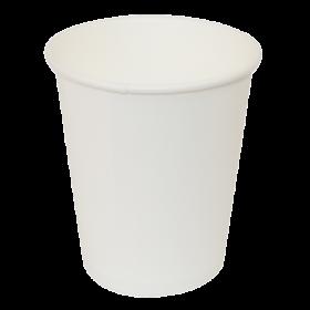 Стакан одноразовый бумажный Buroclean термостойкий 180 мл, белый, 50 шт