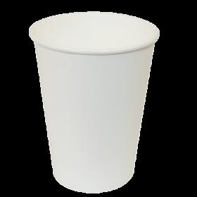 Стакан одноразовый бумажный Buroclean термостойкий 250 мл, белый, 50 шт