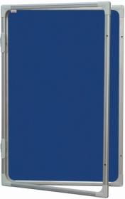 Доска-витрина текстильная 2х3 модель 2 120x180 см, синяя