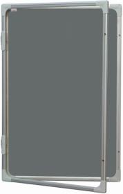 Доска-витринатекстильная 2х3 модель2 45x60 см, серая