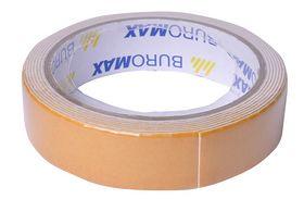 Скотч двухсторонний Buromax JOBMAX на пенной основе 24 мм х 2м, бежевый, 6 шт
