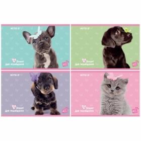 Альбом для рисования KITE Studio Pets, 12 листов