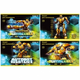 Альбом для рисования KITE Transformers BumbleBee Movie, 24 листа