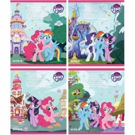 Тетрадь КІТЕ My Little Pony А5,12 листов,косая линия