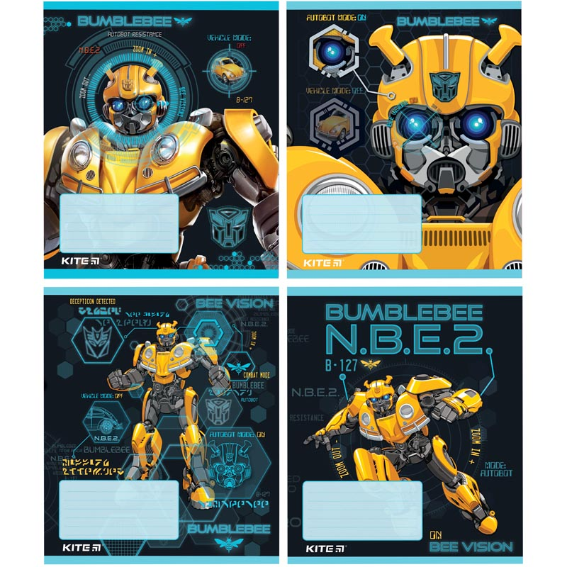 Тетрадь КІТЕ Transformers А5,12 листов,клетка