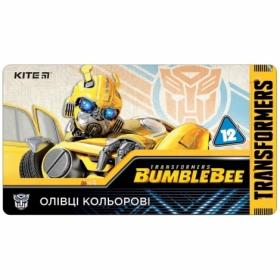 Карандаши цветные KITE Transformers, 12 цветов