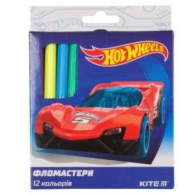 Фломастеры KITE Hot Wheels, 12 цветов