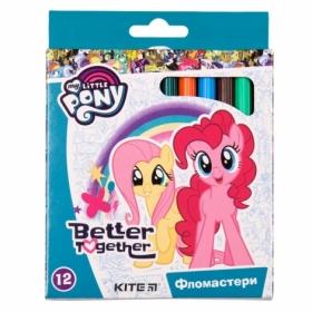 Фломастеры KITE My Little Pony, 12 цветов