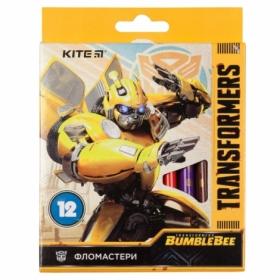 Фломастеры KITE Transformers, 12 цветов