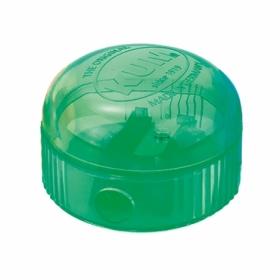 Точилка KUM Ice с контейнером, 1 отверстие, зеленая