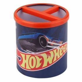 Подставка для ручек металлическая круглая KITE Hot Wheels, 3 отделения