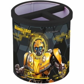 Подставка для ручек металлическая квадратная KITE Transformers, 3 отделения