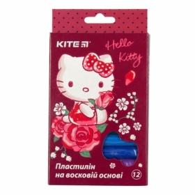 Пластилин восковой KITE Hello Kitty, 12 цветов, 200 г