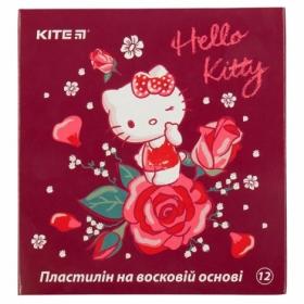 Пластилин восковой KITE Hello Kitty, 12 цветов, 240 г